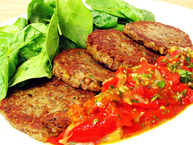 Hamburguesas de lentejas Mis recetas veganas