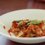 Lentejas calientes con verduras y tomate natural