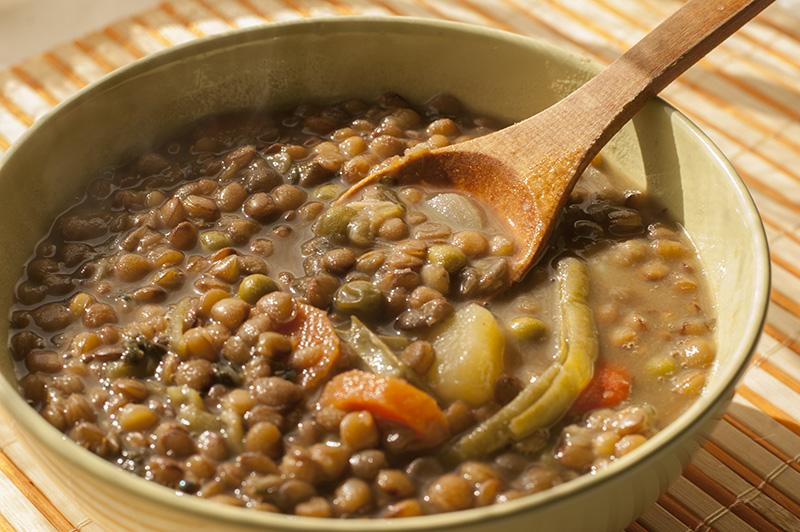 Lentejas con espinacas y verduras variadas for La cocina dela abuela paca