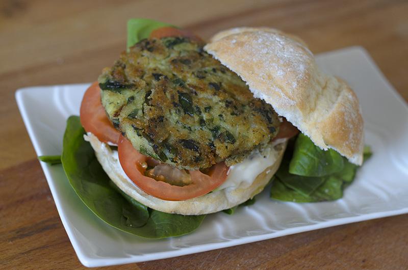 Hamburguesas veganas de Patata y Espinaca