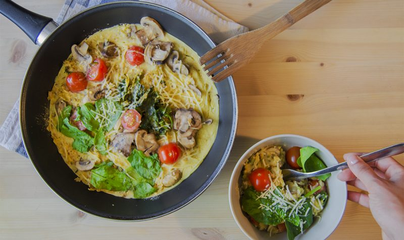 Omelette vegano: sin huevo
