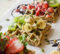 receta_gofres_avena_veganos_kiwi