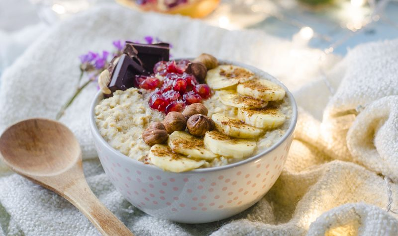 Porridge de avena vegano