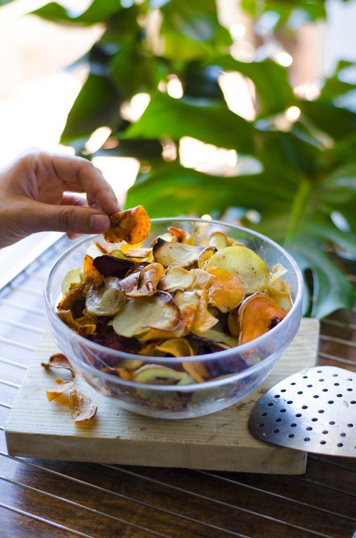 Chips De Verduras Al Horno Veganos Mis Recetas Veganas Fáciles