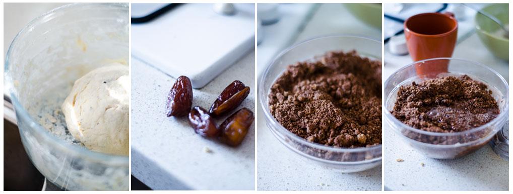 Preparamos la crema de chocolate para rellenar los bollitos veganos.