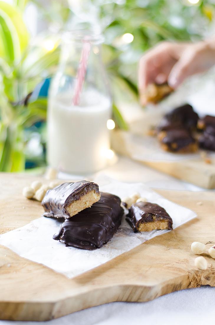 Receta: Barritas de caramelo y chocolate, estilo Twix, Snickers.