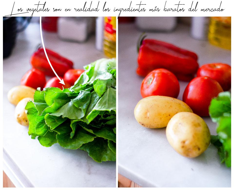 Ser vegano no es caro: los productos más baratos del supermercado son vegetales.
