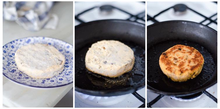 Le damos forma de hamburguesa y lo introducimos en el congelador durante 10 o 15 minutos.