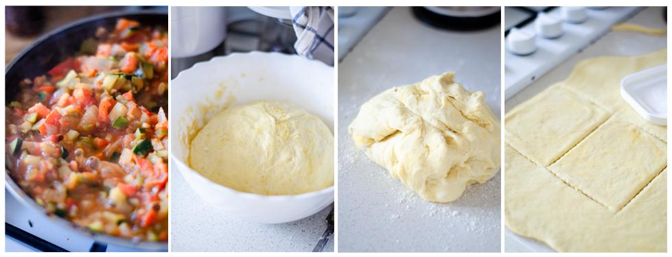 Después recuperamos la masa y la estiramos. Cortamos la forma de las empanadillas.