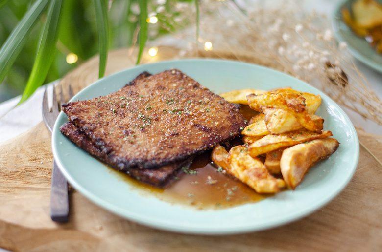 Filetes vegetales caseros de Tofu. Recetas vegetarianas fáciles y baratas.