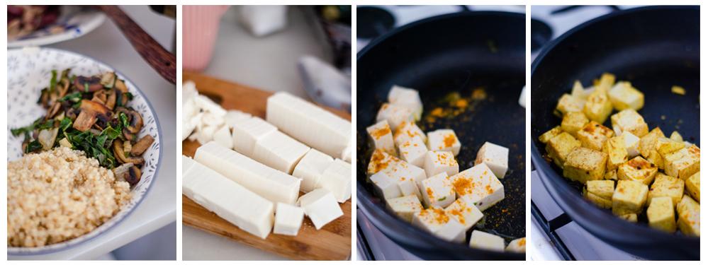 Preparamos el tofu al estilo no huevo con la sal negra.