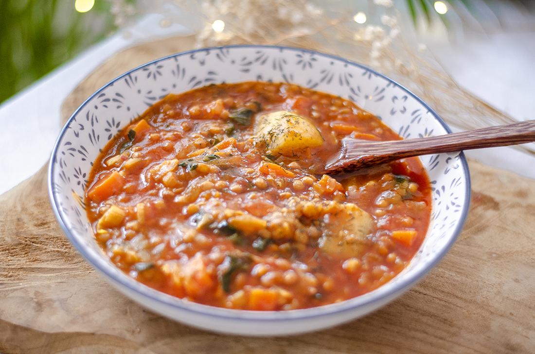 Estofado Rápido De Lentejas Al Curry