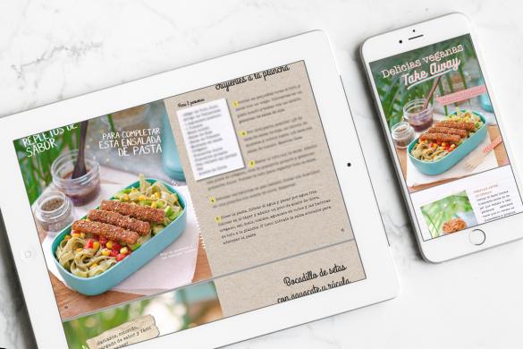 ebook delicias veganas take away - recetas vegetarianas veganas para llevar, táperes, tuppers, comida para llevar fácil, saludable, sin carne