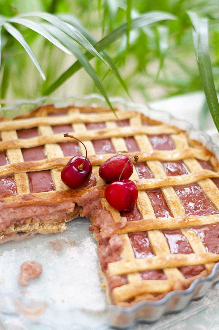 Receta: Tarta de cerezas vegana.