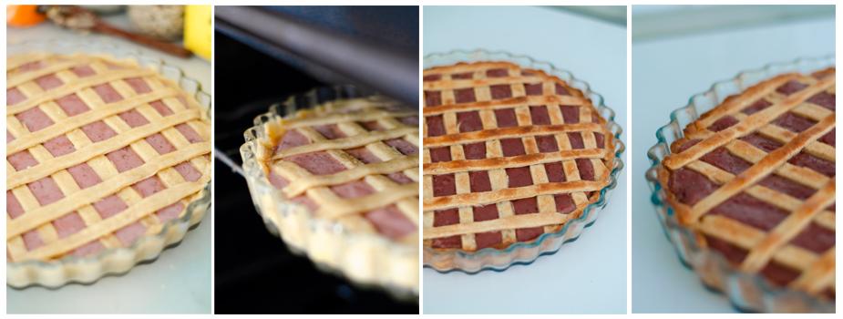 Horneamos la tarta de cerezas