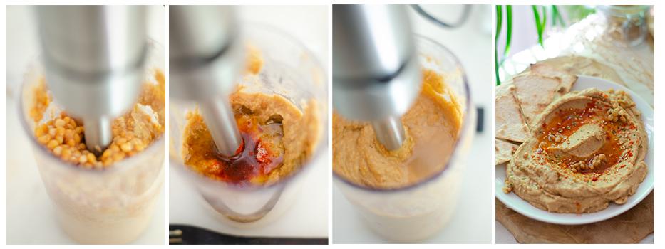 Trituramos y corregimos sabor con más aceite, pimentón,...
