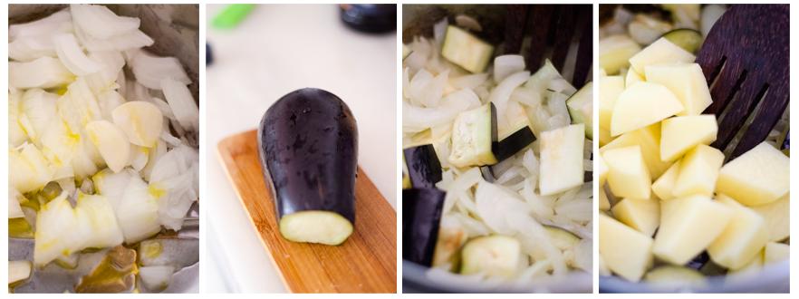 Salteamos las verduras de nuestra sopa de miso vegetariana