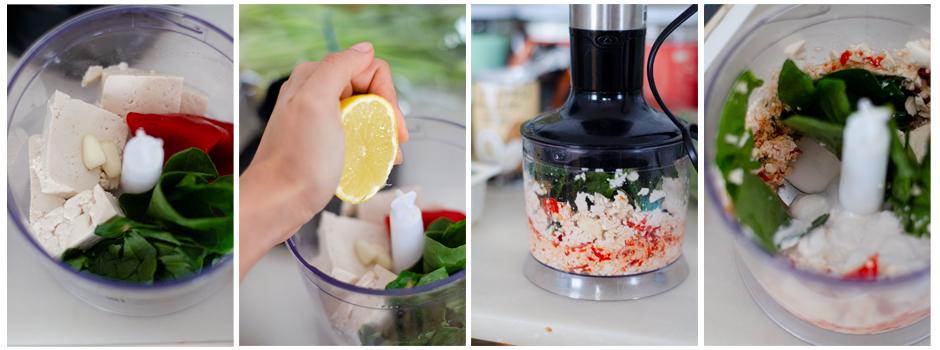 Mezclamos todos los ingredientes para hacer el paté casero.