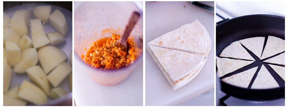 Nachos con queso vegano y boloñesa sin carne. Recetas veganas fáciles y caseras.