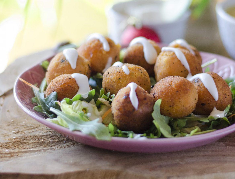 Croquetas de boniato veganas: un receta fácil a base de verduras.