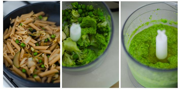 Mezclamos los macarrones con la salsa de brócoli