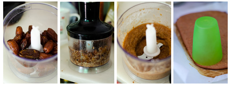 Preparamos el caramelo de dátil con agua