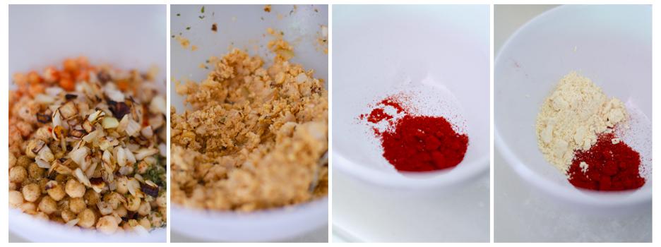 Mezclamos los ingredientes y machacamos