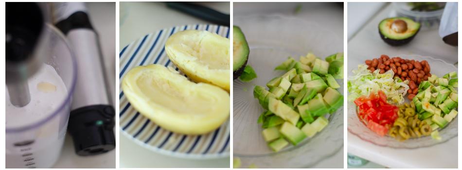 Preparamos la ensaladilla para las patatas rellenas