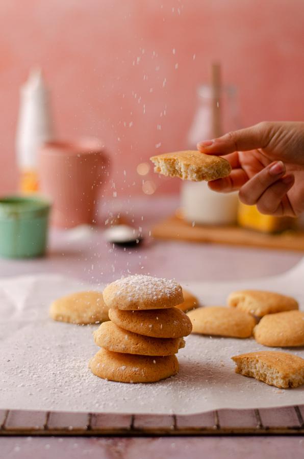 Receta para hacer 'Galletas danesas de mantequilla' sin mantequilla, veganas.