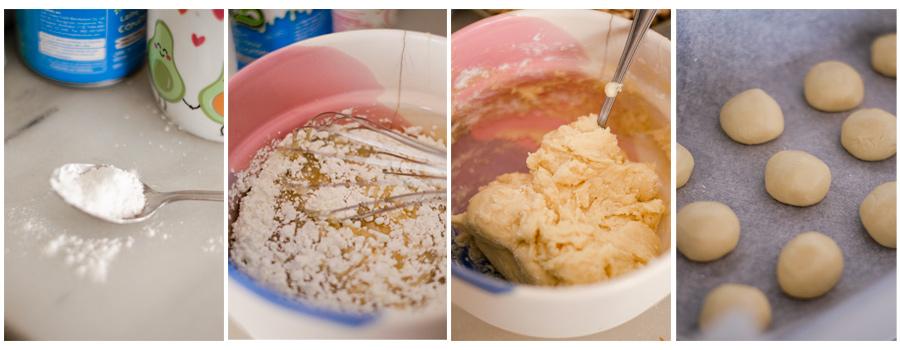 Amasamos la masa de las galletas danesas de mantequilla