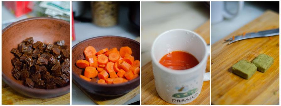 Añadimos la media taza de salsa de tomate y las 10 tazas de caldo.