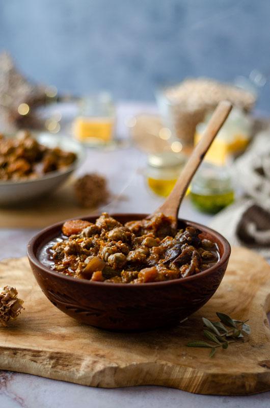 Cocido de garbanzos en olla lenta (Crockpot)