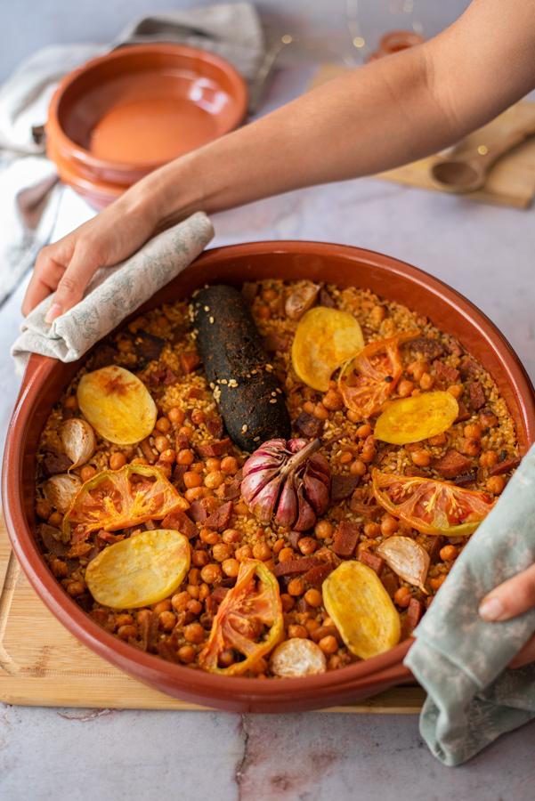 Receta: cómo hacer arroz al horno vegano, sin carne.