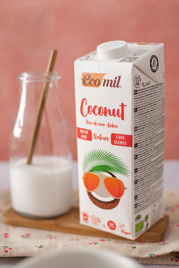 Flan de coco y chocolate (sin huevo)