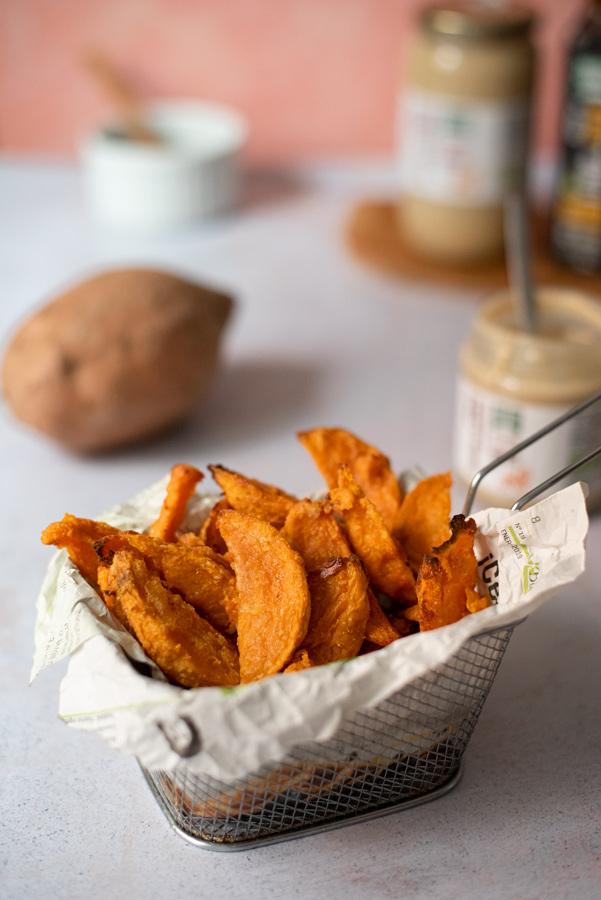 Patatas de boniato al horno o freidora de aire ¡Super crujientes!
