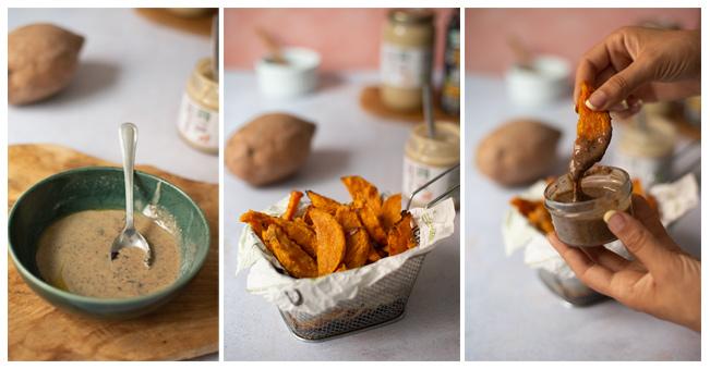 Patatas de boniato crujientes al horno