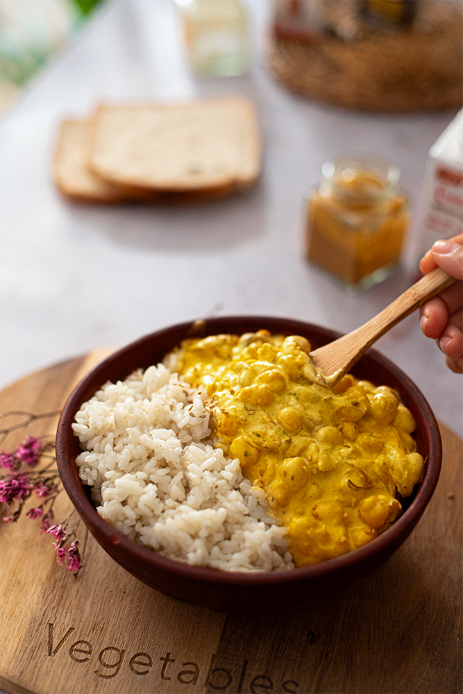 Receta fácil: curry de garbanzos en 15 minutos